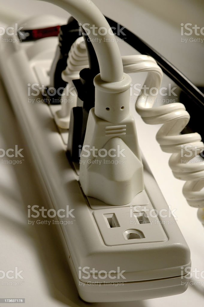 electric power strip royalty-free stock photo