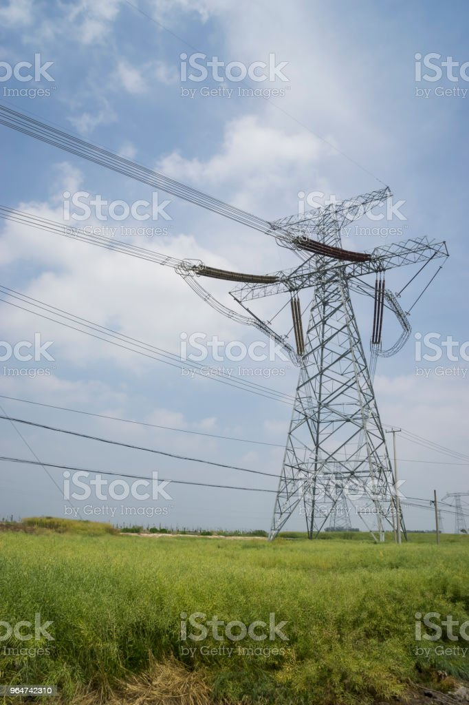 Electric power tower royalty-free stock photo