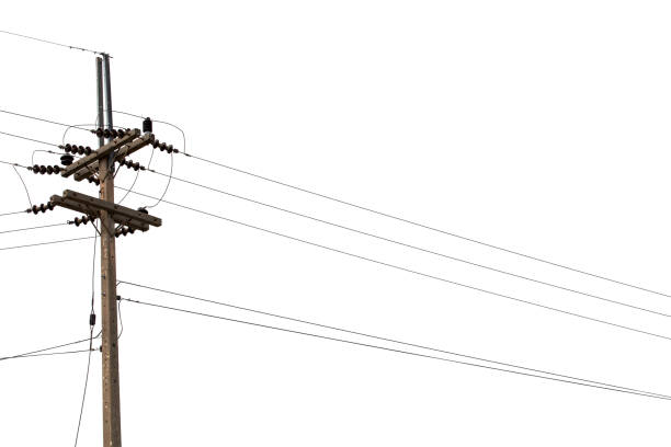 electric pylon isolated on white background. - vectors stock pictures, royalty-free photos & images