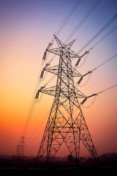 Electric Pylon stock photo