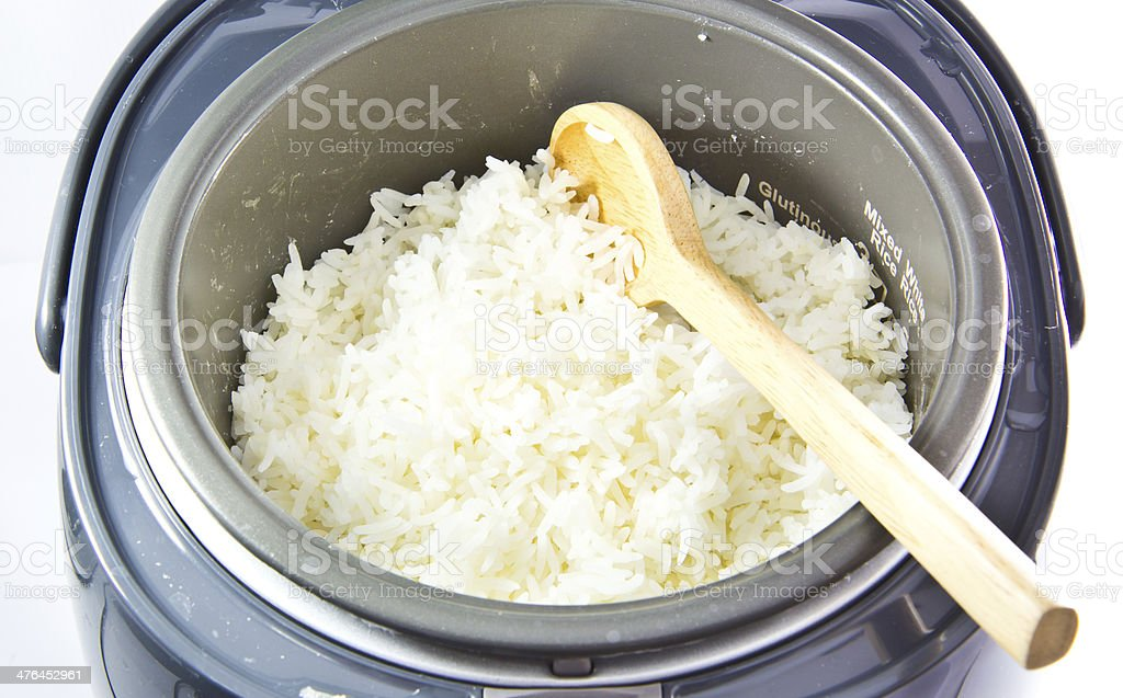 Electric rice cooker isolated stock photo