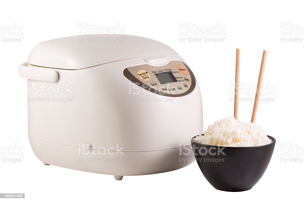 Electric rice cooker stock photo