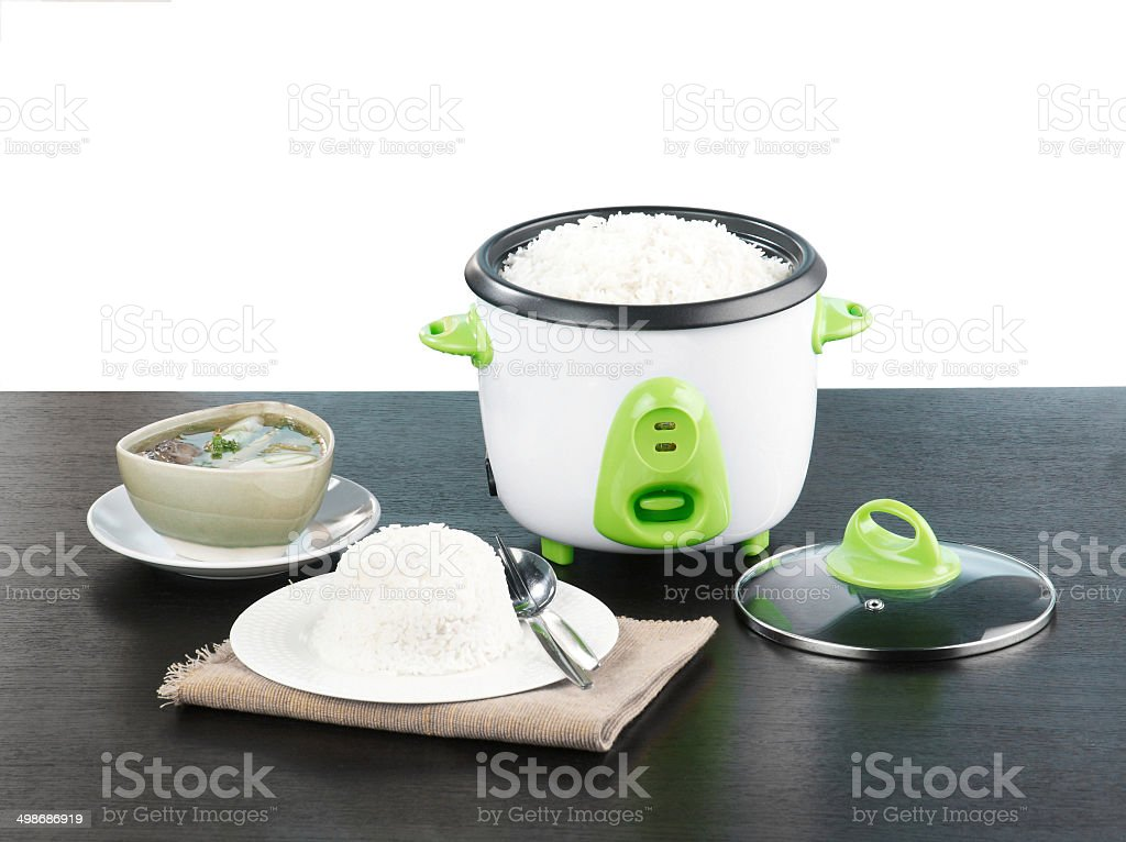 Electric rice cooker pot a nice kitchenware stock photo