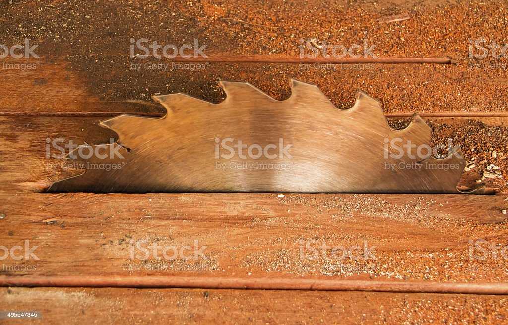 Electric saw blade stock photo