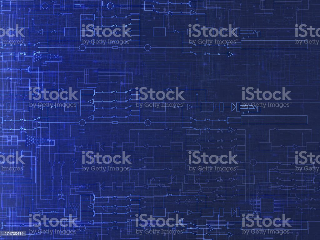 Electric Schematic royalty-free stock photo