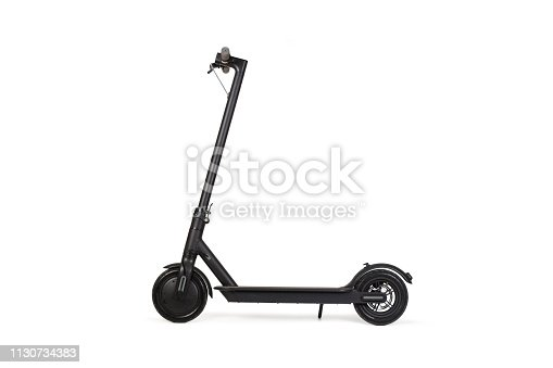 Black electric scooter in a isolated view
