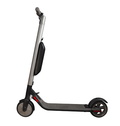 Electric scooter isolated on white background. Clipping Path included.