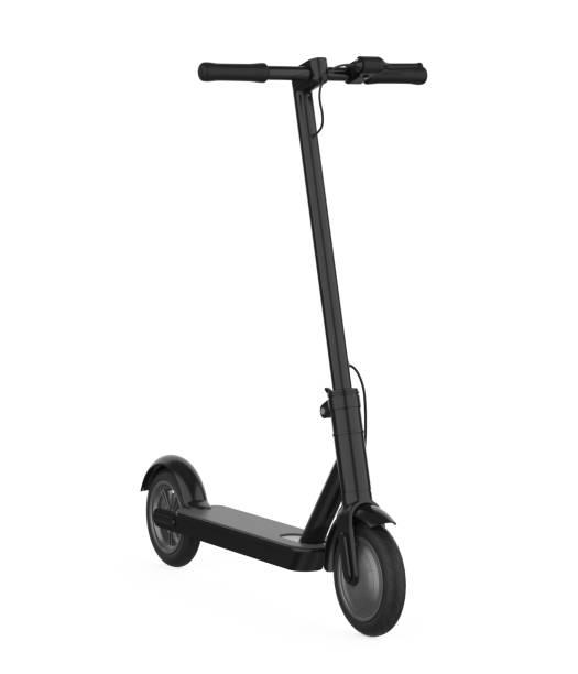 electric scooter isolated - monopattino elettrico foto e immagini stock