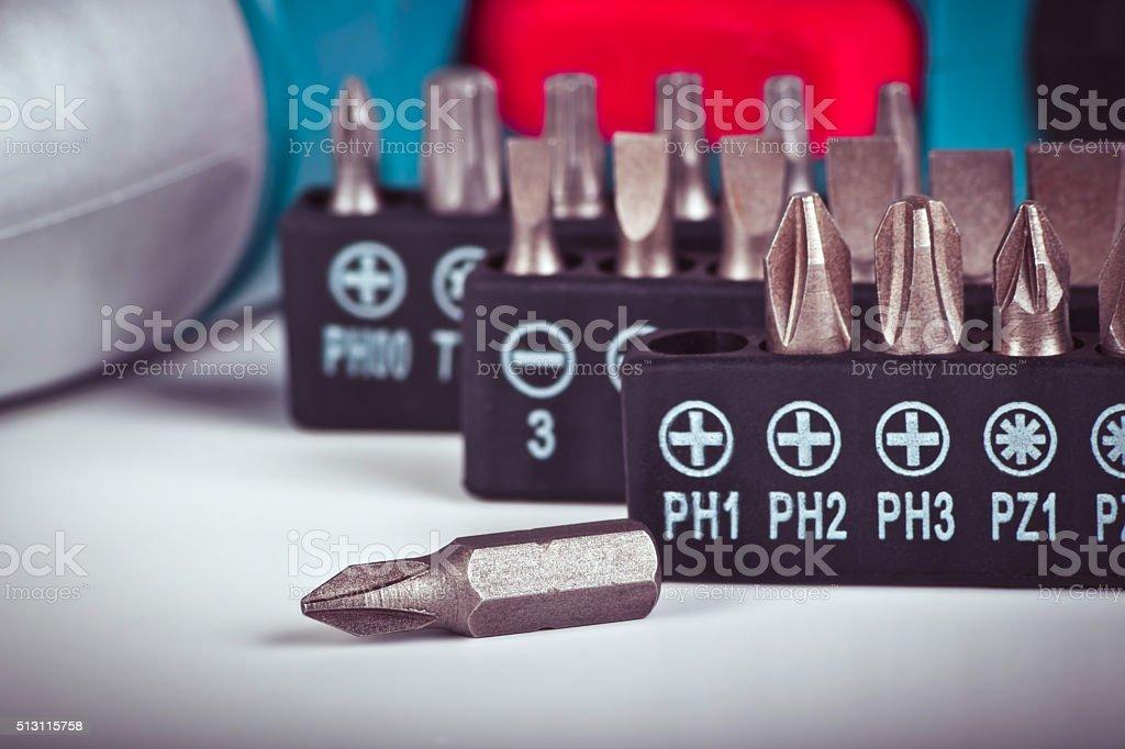Electric screwdriver stock photo