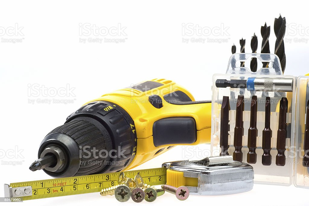 electric screwdriver royalty-free stock photo