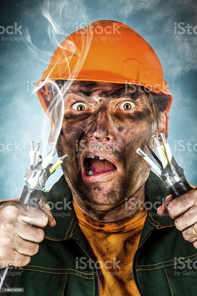Electric Shock stock photo