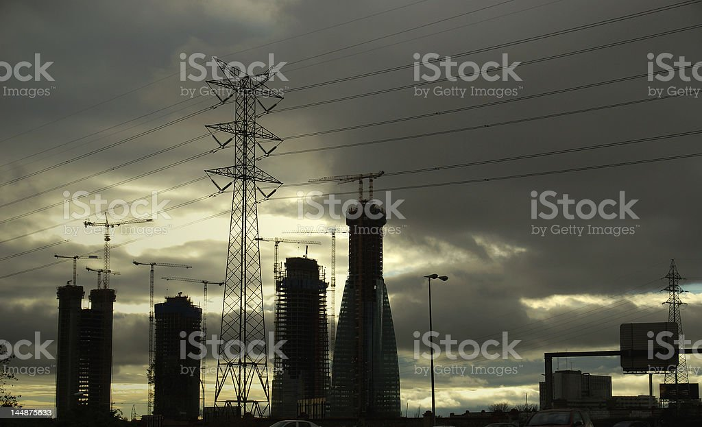 Electric Skies royalty-free stock photo
