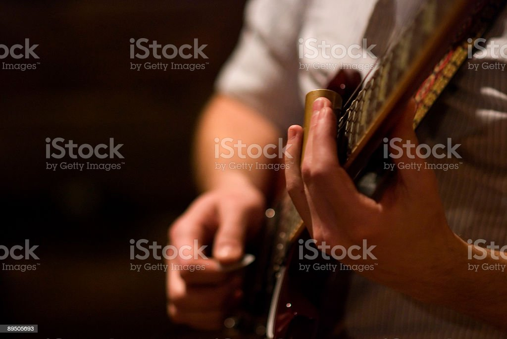 Electric Slide Guitar royalty-free stock photo