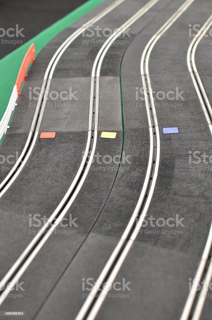 Electric slot pista de corrida - foto de acervo