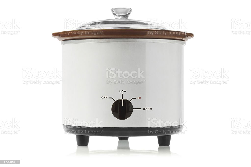 Electric Slow Cooker stock photo