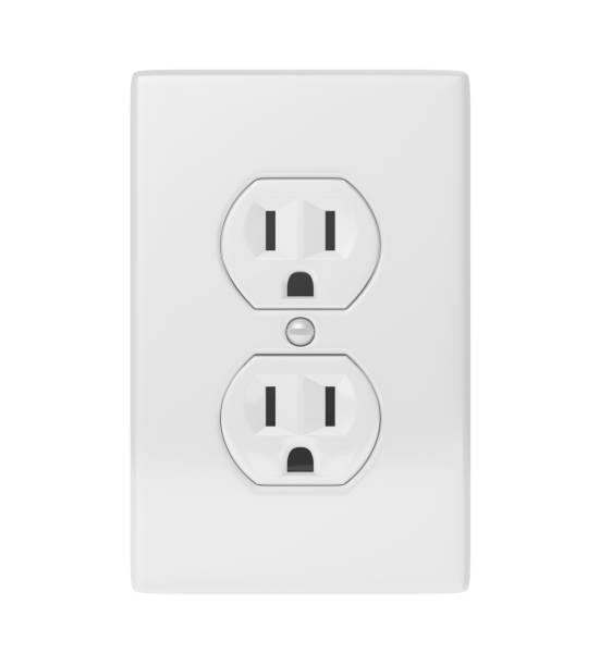 Electric Socket Isolated stock photo