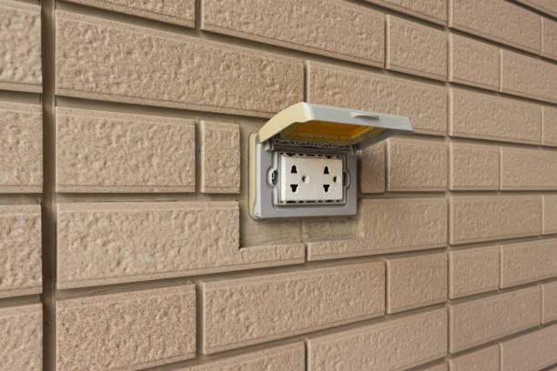 Conector hembra eléctrico - foto de stock