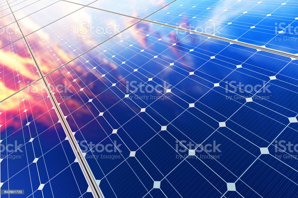 Electric solar battery panels royalty-free stock photo