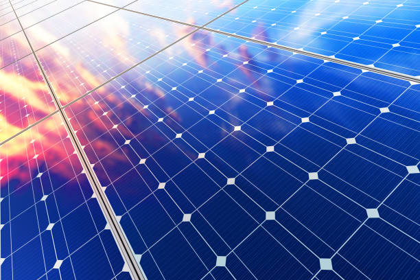 electric solar battery panels - fuel and power generation stock photos and pictures
