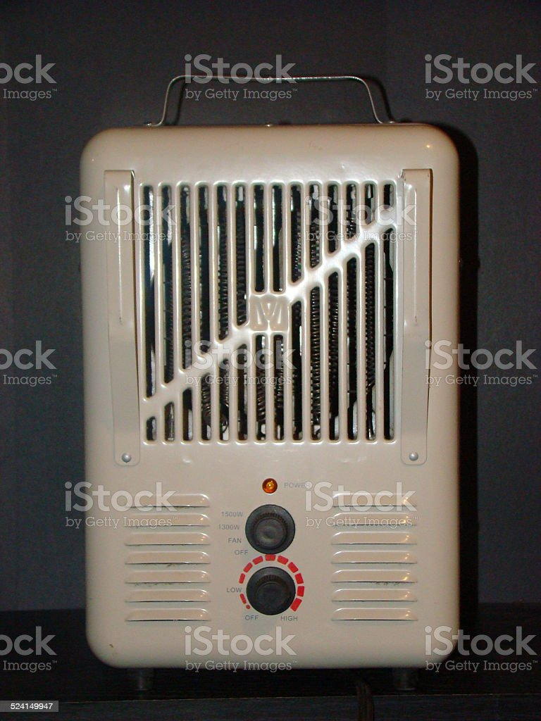 Electric space heater stock photo