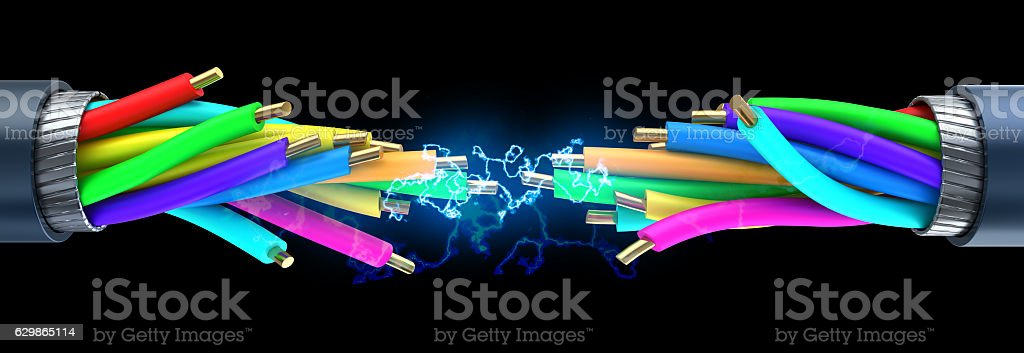 electric spark stock photo