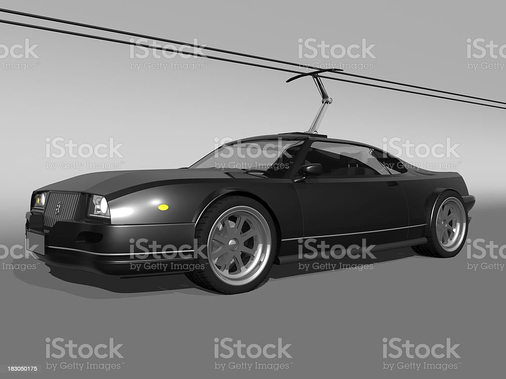 electric sport Auto - Lizenzfrei Alternative Energiequelle Stock-Foto
