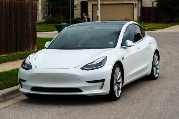 Electric Sports Car the Tesla Model 3 stock photo