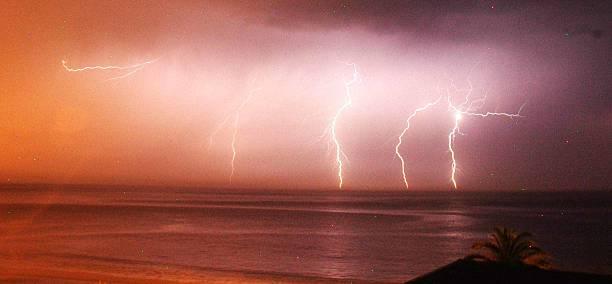 Electric storm stock photo
