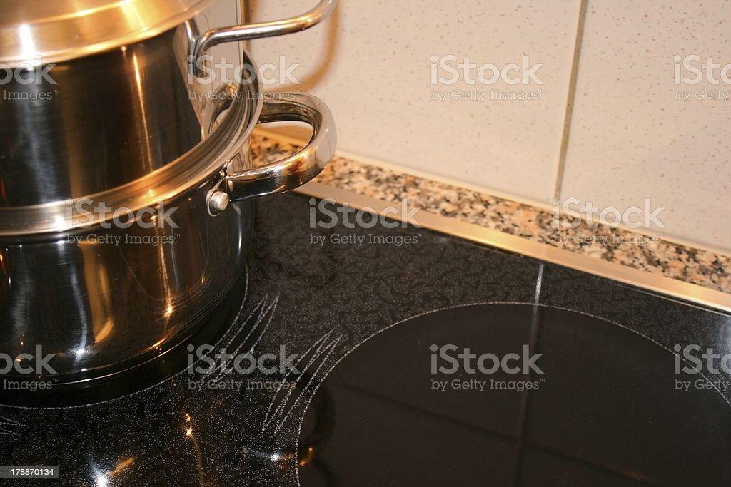 Electric stove stock photo