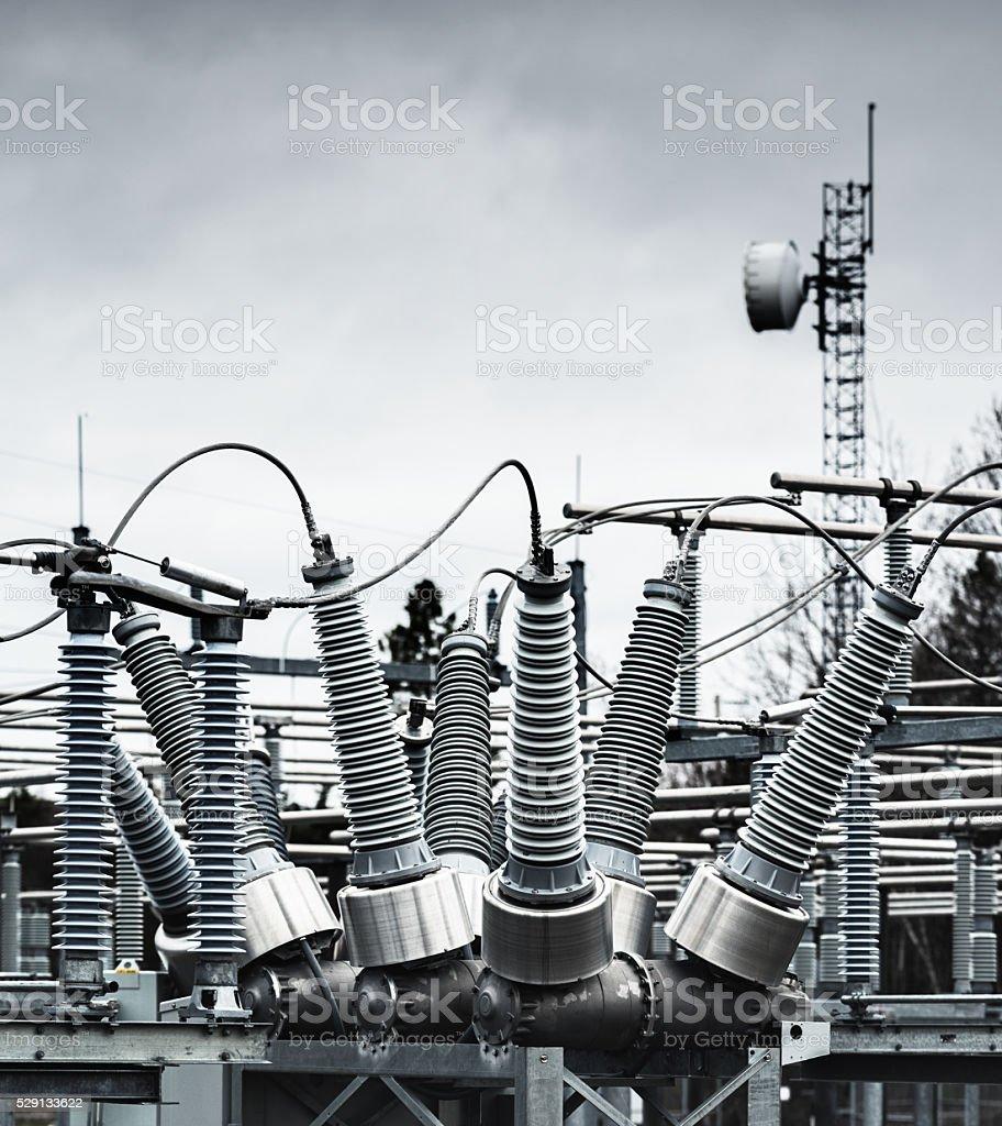 Electric Substation stock photo
