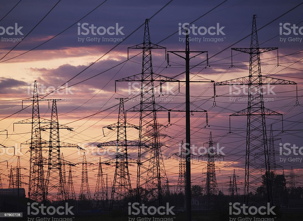 Electric sunset royalty-free stock photo