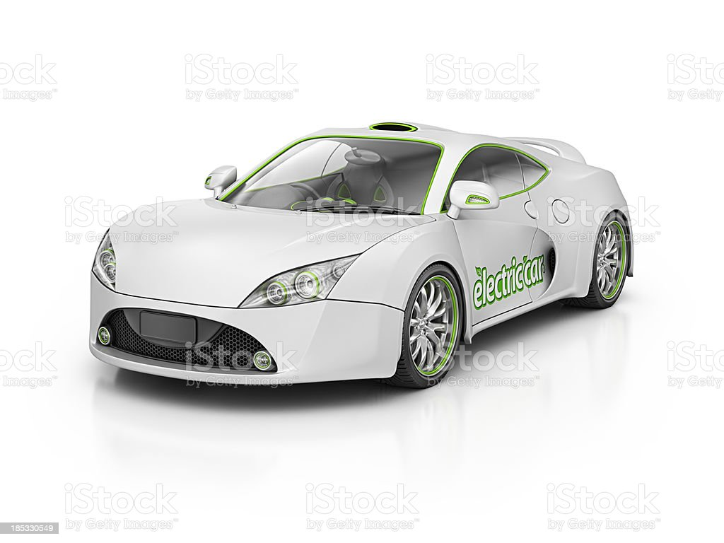 electric supercar royalty-free stock photo
