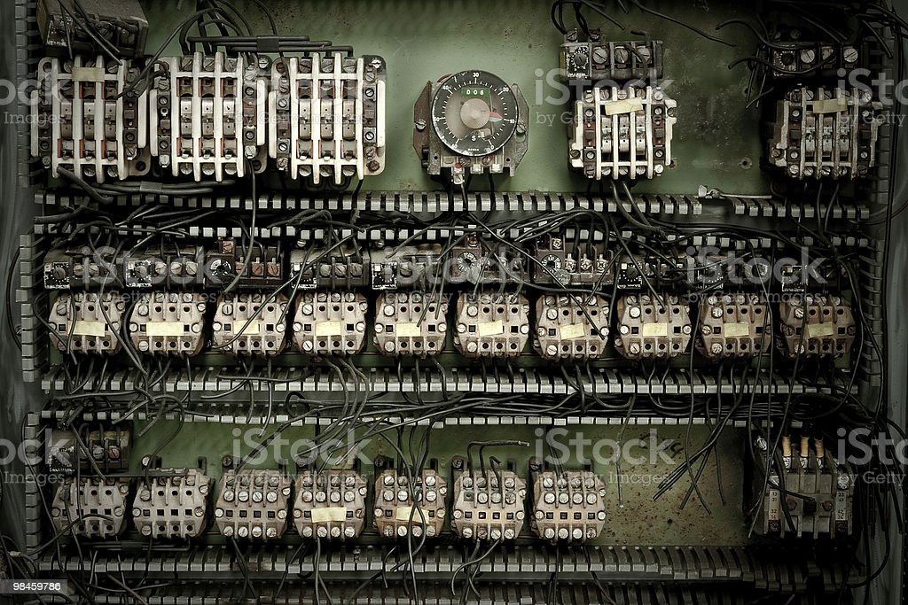 Electric switch box royalty-free stock photo