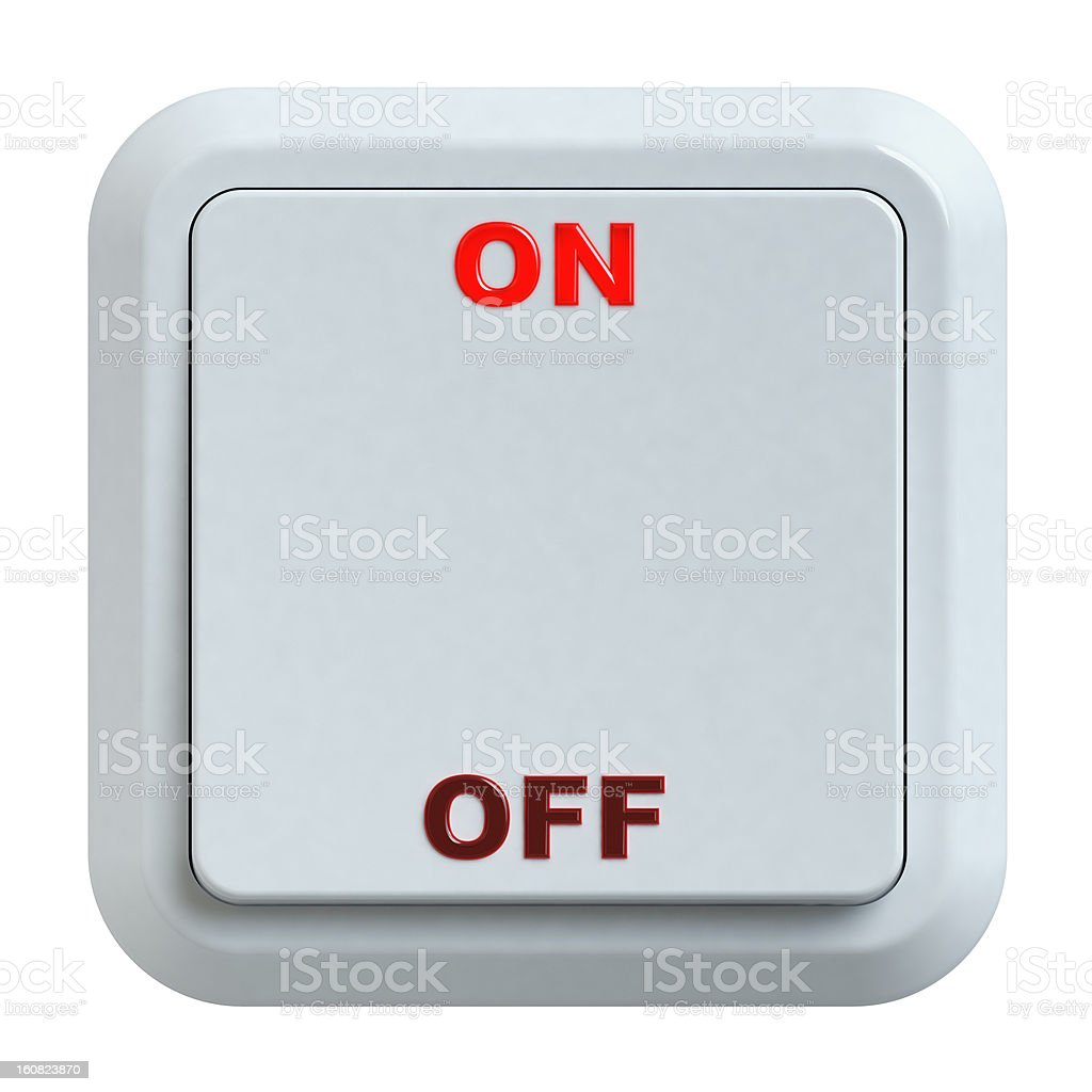 electric switch royalty-free stock photo
