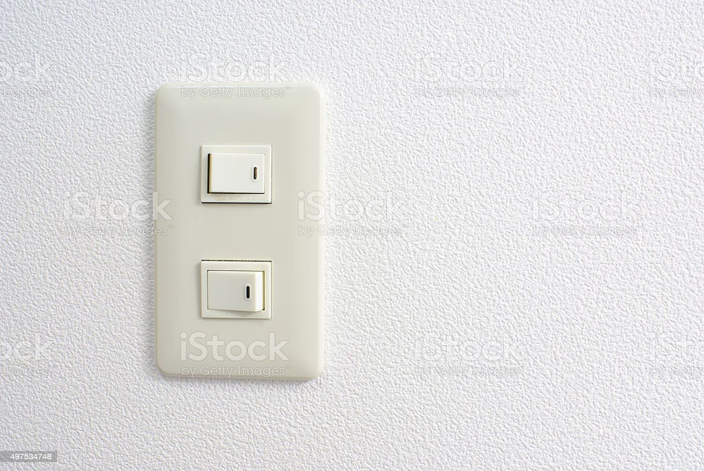 Electric switch stock photo