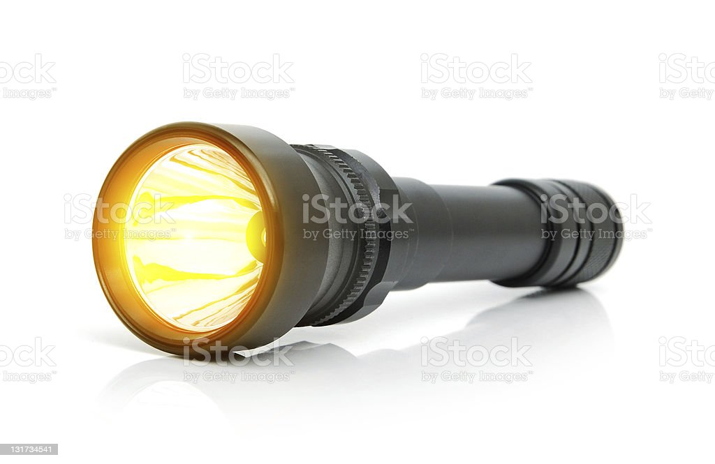 LED electric torch stock photo