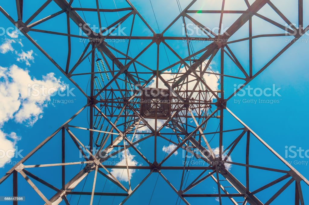 Electric tower elements stock photo