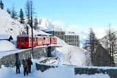 istock Electric train in Chamonix 488718941
