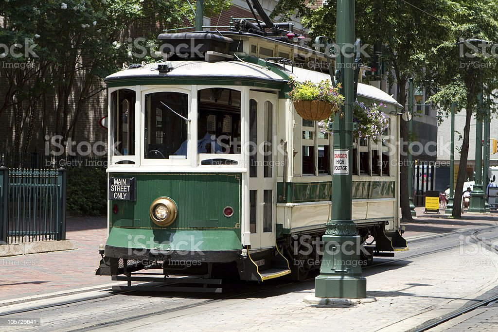 Electric Trolley Car stock photo