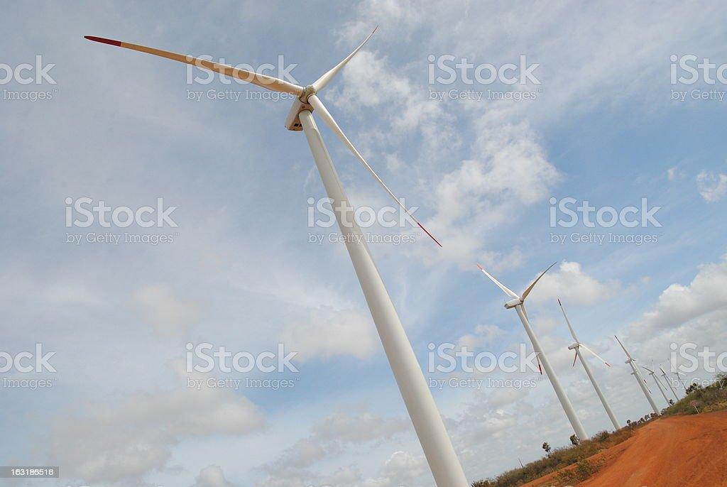 Electric turbine stock photo