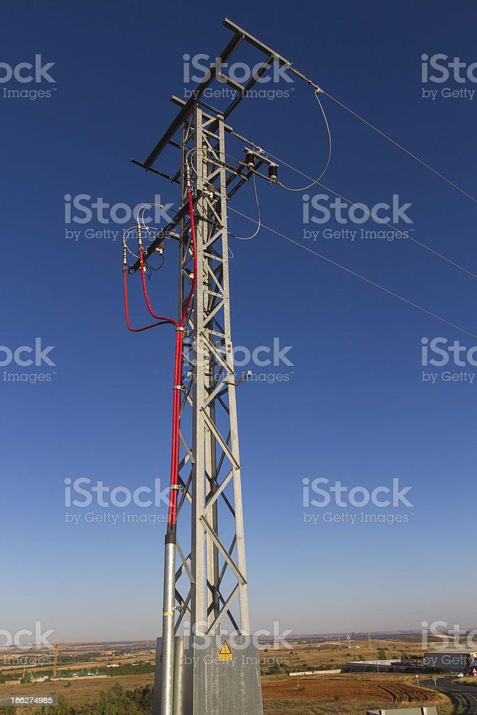 Electric pequena-Torreta de Electricidad - foto de acervo