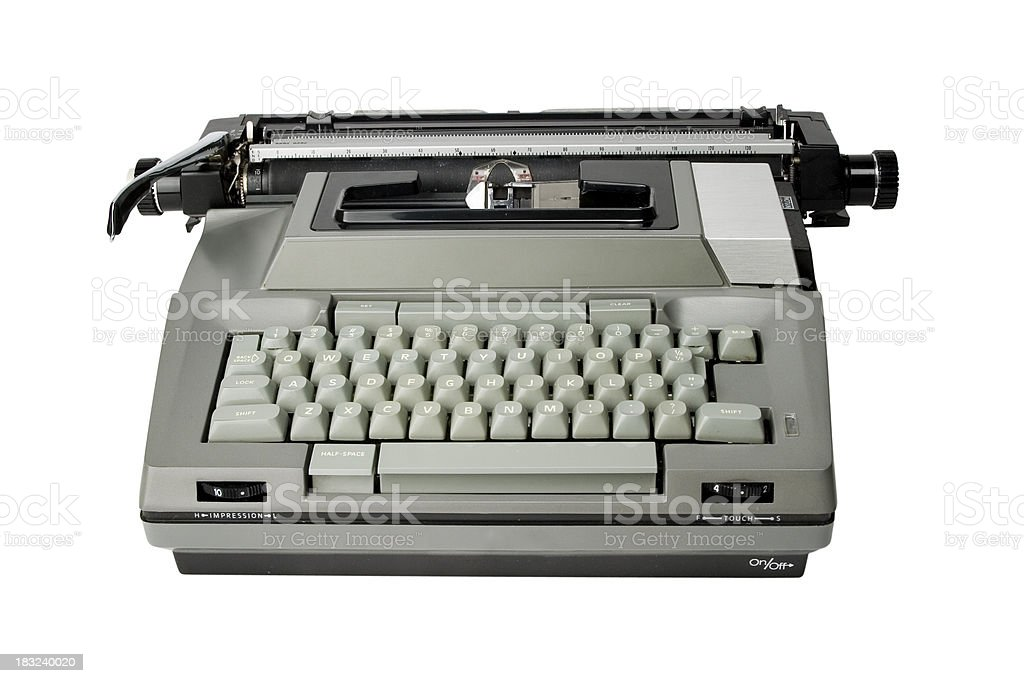 Electric Typewriter royalty-free stock photo