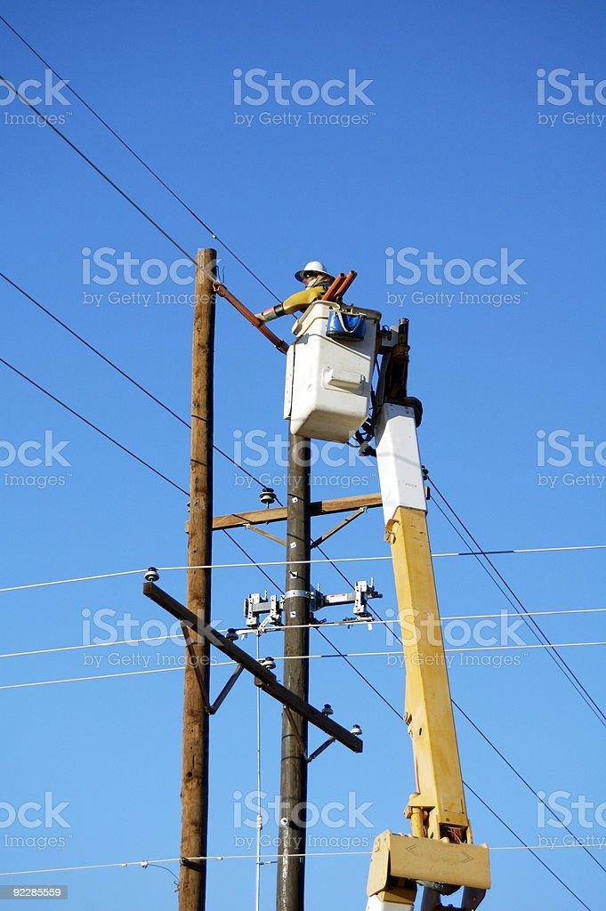 Electric Utility Lineman royalty-free stock photo