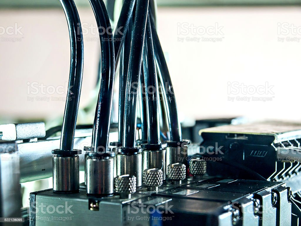 Electric vavle control stock photo