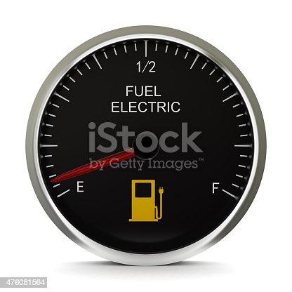 istock Electric Vehicle Battery Gauge 476081564