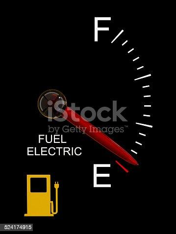 istock Electric Vehicle Battery Gauge 524174915