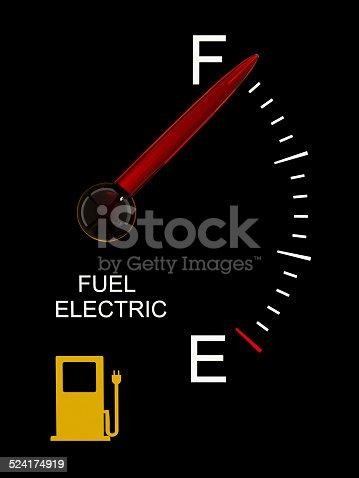 istock Electric Vehicle Battery Gauge 524174919