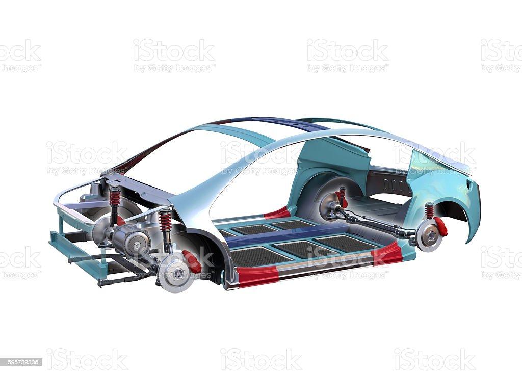 Electric Vehicle Body Frame Isolated On White Background Stock Photo ...