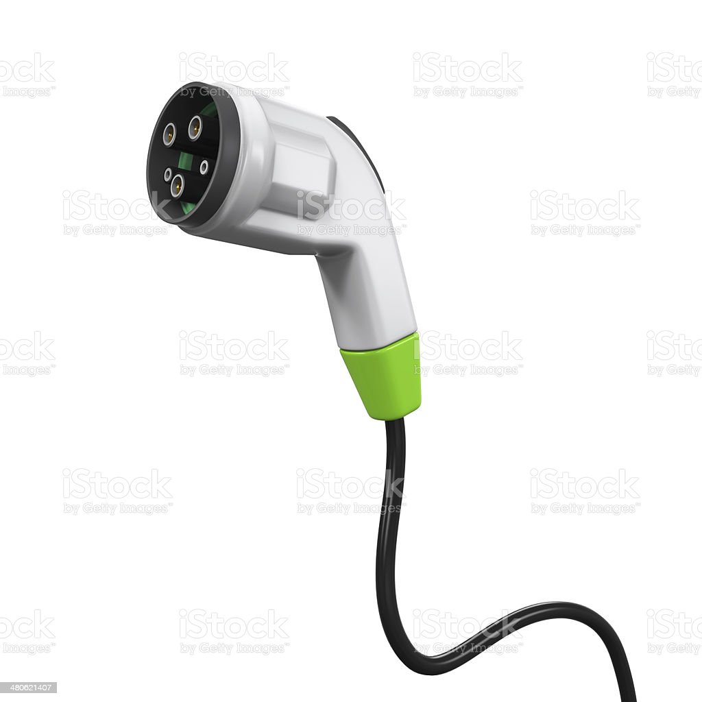 Electric Vehicle Charging Plug royalty-free stock photo