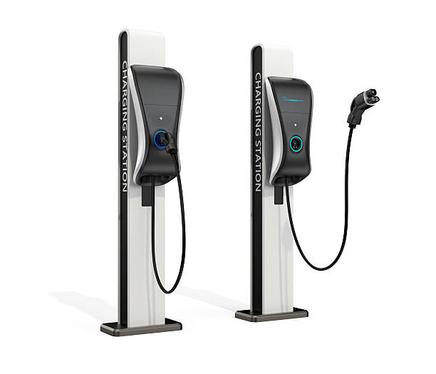 station de recharge pour véhicules électriques pour l'utilisation public - Photo